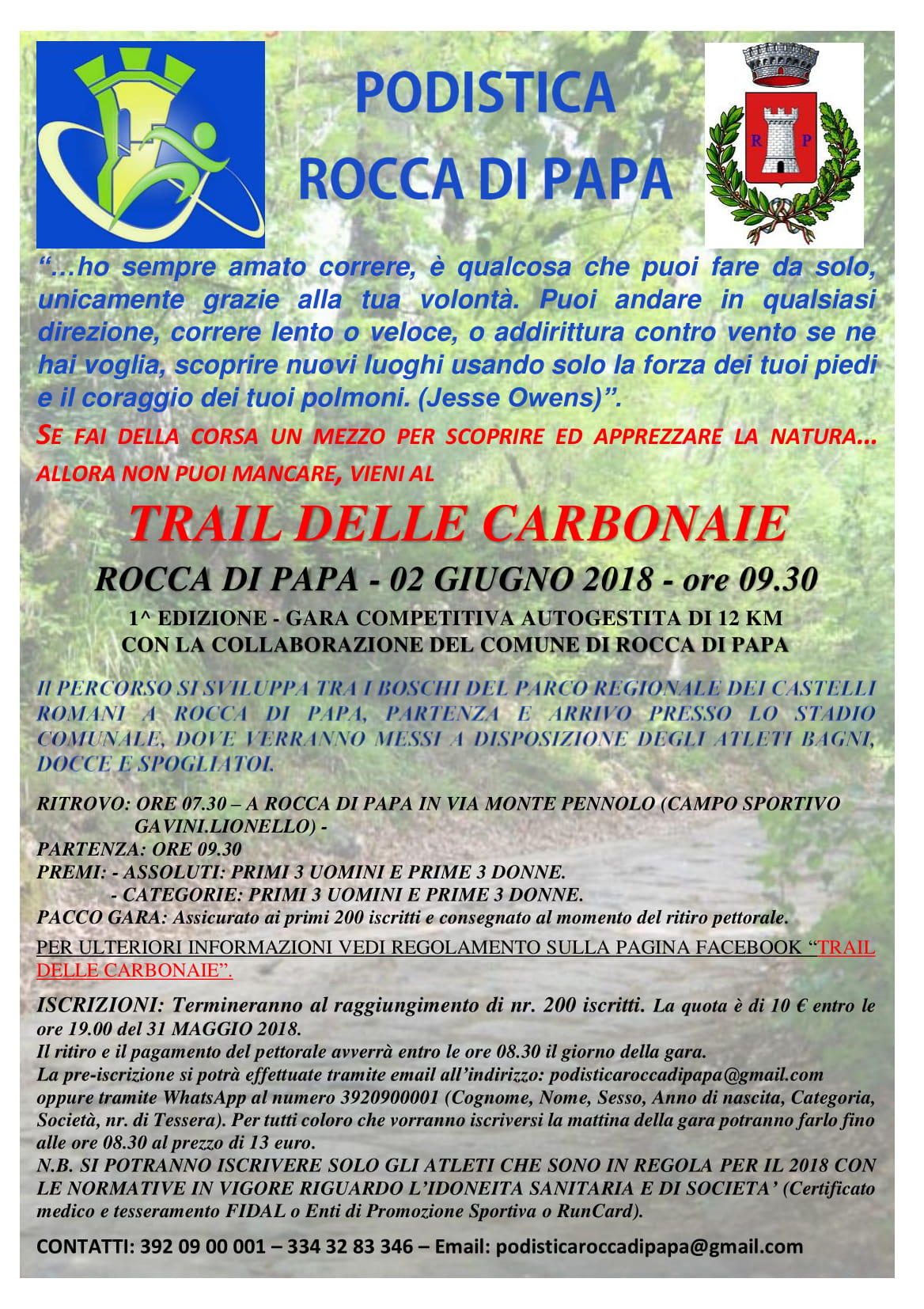 trail delle carbonaie